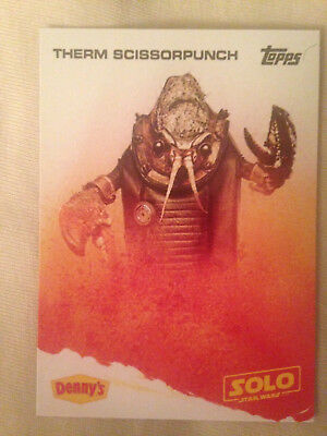 Therm Scissorpunch - Denny's Solo: A Star Wars Story - 2018 Topps Trading Card