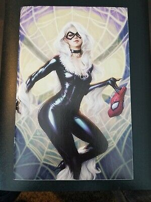 Spider-Man #25 Vf Stanley Lau Artgerm Virgin Variant Black Cat Not Cgc 9.8 Venom