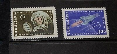 Bulgaria 1961 First Manned Flight In Space Set Of 2  M/H
