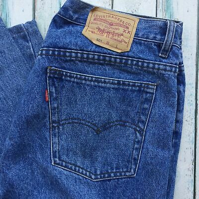 Vintage Relaxed Fit Levi 501's -Size 36