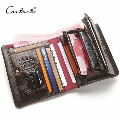 Men's Wallets Genuine Leather Card Holders With Zipper Coin Pockets