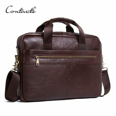 Genuine Leather Bag Business Male bags Laptop Tote Briefcases Men