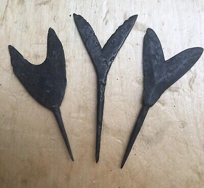 Large Viking Arrowheads (3) Exceptional!