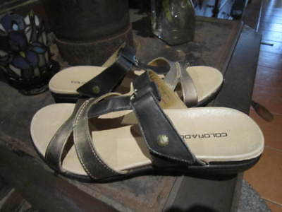 womens COLORADO leather slip on shoes SZ 7