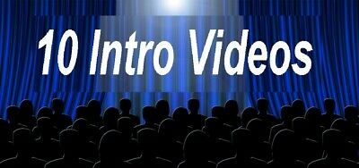 10  HQ Amazing intro Video mit viel  extras ,Intro film, werbung ,promotion