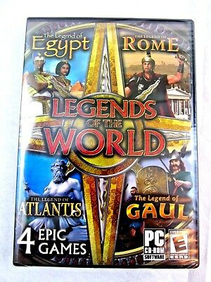 Legends of the World PC Puzzle Game Match 3 Egypt Rome Atlantis Gaul NEW