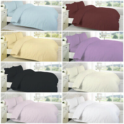 TC200 Plain Dyed Egyptian Cotton Flat Bed Sheets Single Double King Pillowcases