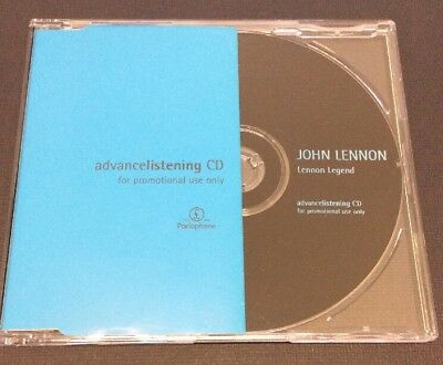 "John Lennon ""Lennon Legend"" Advance Listening Promo CD EMI CDPP037 1997 N/Mint"