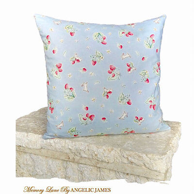 'Bunnies Blue' Memory Lane Vintage Cushion