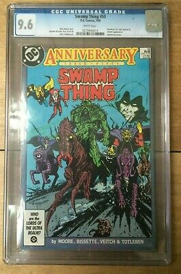 Swamp Thing #50 White Pages Alan Moore 1st Justice League Dark CGC 9.6