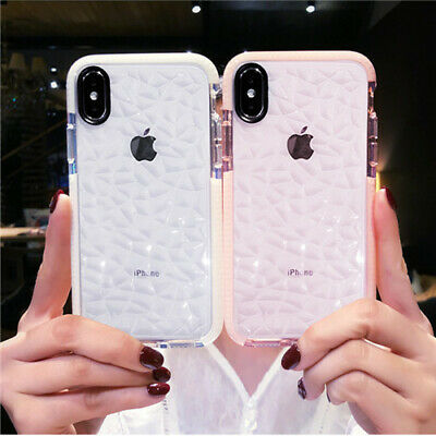 Luxury Soft Silicone Diamond Pattern Transparent Phone Case For Samsung Note 10+