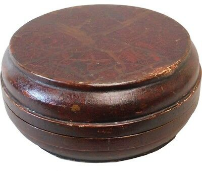 Antique Brown Lacquered Box (77-324)