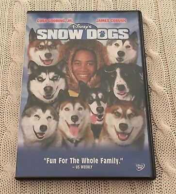 Snow Dogs (DVD, 2002) Comedy Disney Cuba Gooding Jr Rated PG Excellent Condition