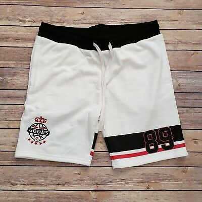 d30406ccc Fire Red Goons Shorts | Mens French Terry Sweat Shorts | Premium Streetwear