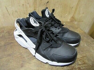 online store 024af 7e57a Nike Mens Air Huarache 318429-042 Black White Running Shoes Size 10.5