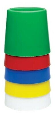 5 x Coloured Water / Paint Pot, Non Spill & Stackable, Great for Children