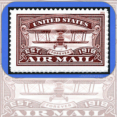 2018  Red  AIR MAIL CENTENARY  Mint USPS Forever®  Individual Stamp  Cat # 5282