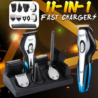 Rechargeable Hair Trimmer Electric Clipper Beard Mans Shaver Grooming Body Kit
