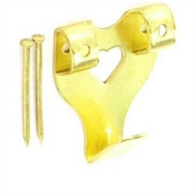 Securit Double Picture Hooks Electro Brass Plated Brassed Pack of 2