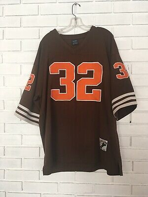 lowest price 1a1b2 84e0c RARE JIM BROWN #32 XL Throwbacks Jersey Cleveland Browns NFL Vintage Replica