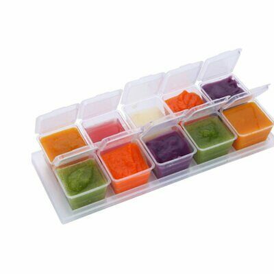 Baby Food Containers Boxes w/ Tray Freezer Storage for Homemade Vegetable Sauce
