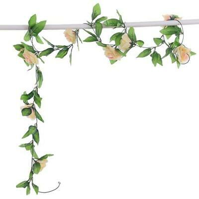 Artificial Silk Flower Rose Garland - Champagne