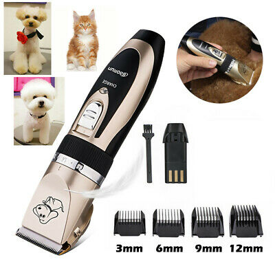 Pet Rechargeable Electric Cordless Hair Clipper Cat Dog Trimmer Comb Grooming