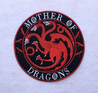 Mother of Dragons Embroidered Iron On Patches Game of Thrones Targaryen Sigil