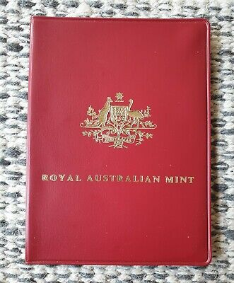 Scarce Royal Australian Mint 1973 Six Coin Uncirculated Set in Red Wallet