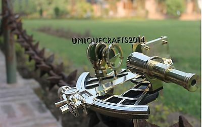 Brass Nautical Vintage Sextant 9'' Maritime Astrolabe Ship Instrument Gift Item.