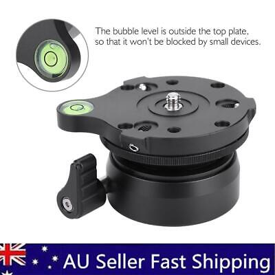 """DY-60A Tripod Leveling Base Ball Head Platform With Bubble Level 1/4"""" Black New"""
