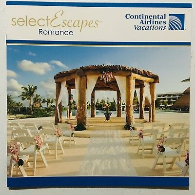 Continental Airlines Vacations Select Escapes Info Booklet (2011) Collectible!