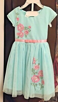 72a268e7bf8 JONA MICHELLE GIRLS  Easter Dress - BLUE FLORAL (Select Size)   FAST ...