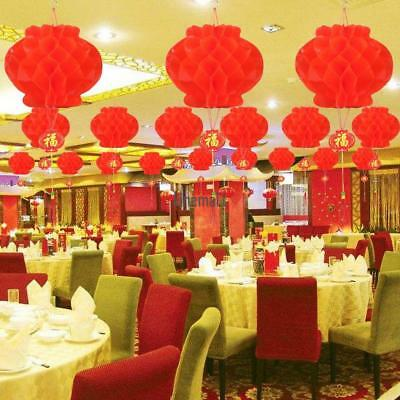 2pcs Chinese Red Lanterns For New Year Chinese Spring Festival Wedding L