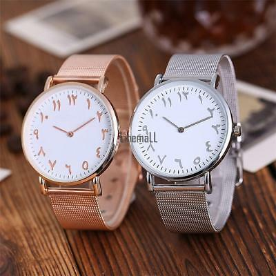 Business Round Dail Analog Quartz Aluminium Alloy Band Men Wrist Watch LM