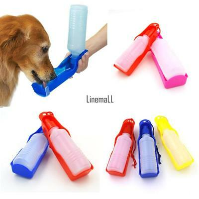 Portable Pet Dog Cat Outdoor Travel Water Bowl Bottle Feeder Drinking Fountain L