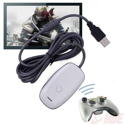 Black/white PC Wireless Controller Gaming USB Receiver Adapter for  360 UP