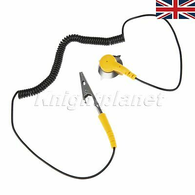 PU /&Metal Material ESD Clip Anti Static Grounding Wire Pad Grounding Wire Clamp