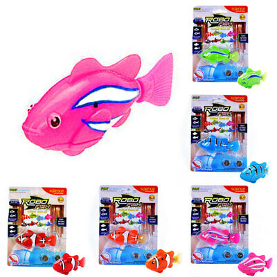 Toys & Hobbies Swimming Robofish Activated Battery Powered Fish Child Kids Toys Robotic Fashion Pet Supplies