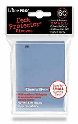60 ct Small-Deck Protector Card Clear Sleeves | Ultra Pro Yugioh Vanguard