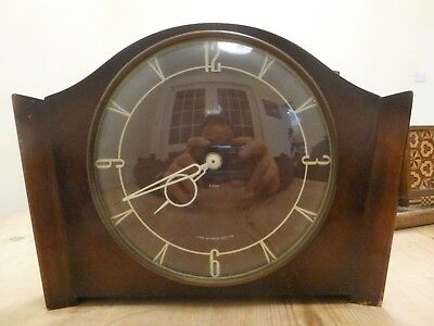 Lovely Vintage Smiths 8 Day, Art Deco, Mantle Clock, Great Britain, Working