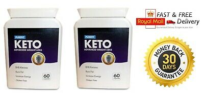 PUREFIT KETO ADVANCED WEIGHT LOSS (2X60 Capsules) FAST & UK FREE SHIPPING