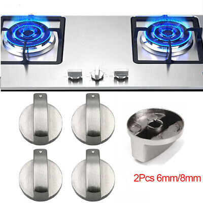 Silver Gas Stove Cooker Control Knobs Switch Metal Rotary Kitchen Tool