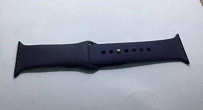 Genuine Apple Watch Sports Band Rose Gold Pin 42mm 44mm Strap Midnight Blue S/M