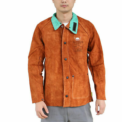 GN- Durable Welder Jacket Cowhide Leather protection gear Welding Coat Safety Ap