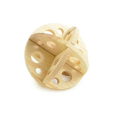 Ancol Roll n Chew Natural Wood Ball Maze Gnaw Toy for Rabbits Guinea Pigs