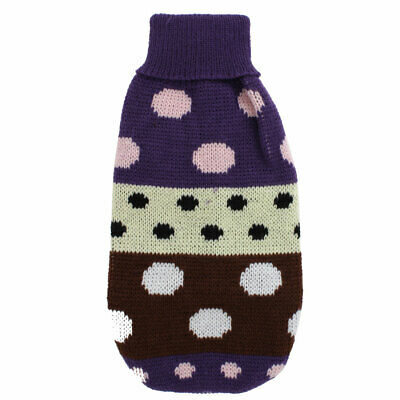 Pet Dog Puppy Ribbed Cuff Knitwear Warm Apparel Sweater Assorted Color XXS