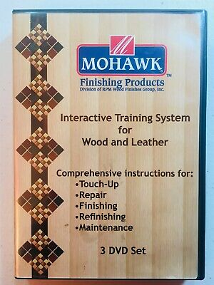 Mohawk Interactive Training System: Wood & Leather (3 DVD) Learn Touch Up Repair