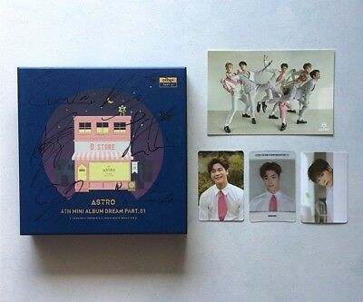 ASTRO ALL MEMBER Signed Dream Part  01 With Moon Bin Photocard (Night Ver)