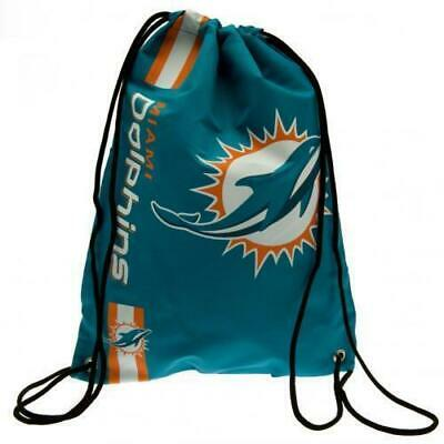 Forever Collectibles Official NFL Miami Dolphins Drawstring Gym Bag